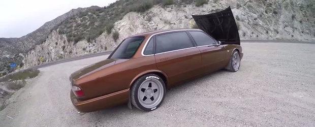 Nu vrei sa te pui cu acest Jaguar XJ Long. Limuzina britanica ascunde sub capota un V8 de 575 CP