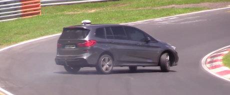 O avea el tractiune fata si sapte locuri, dar tot BMW este. Scurt moment de drift la bordul noului Seria 2 Gran Tourer