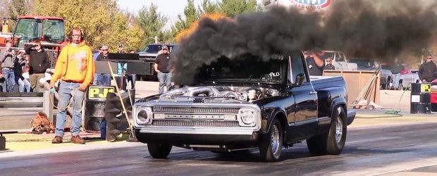O camioneta diesel cu 3 turbine face sfertul de mila in 8 secunde, ne aduce aminte de incalzirea globala