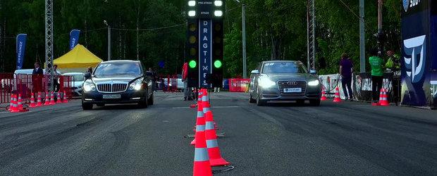 O cursa cu greutate: Maybach 57S versus Audi S8