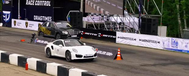 O cursa putin cam inegala intre un Bentley Bentayga si un Porsche 911 Turbo, dar daca se poate, de ce nu?
