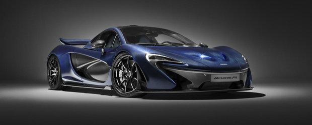 O frumusete de automobil. McLaren aduce la Geneva primul P1 cu caroserie din carbon albastru