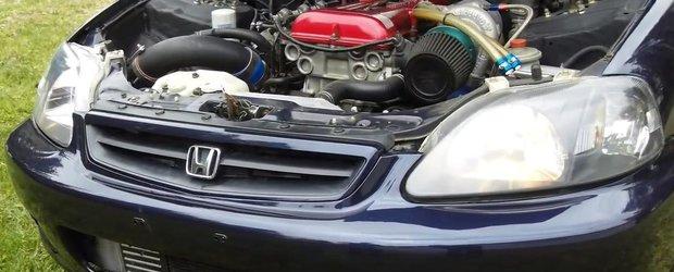 O Honda Civic RWD cu motor de Nissan pare scoasa din poveste!!