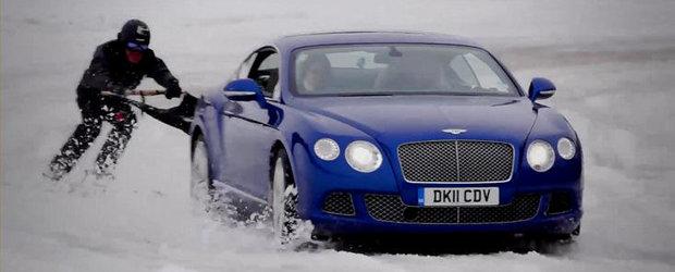 O noua distractie de iarna: Skijoring cu Bentley Continental GT