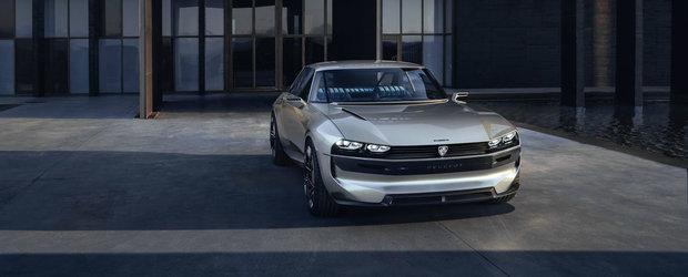 O sa te indragostesti ireversibil de el. Noul Peugeot e-Legend e un coupe cu aspect retro si dotari moderne