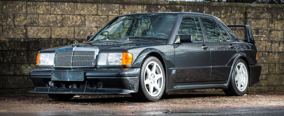 O sa-ti pice fata cand vezi asta: Un Mercedes 190 E 2.5-16 Evo II nou-nout iese la vanzare
