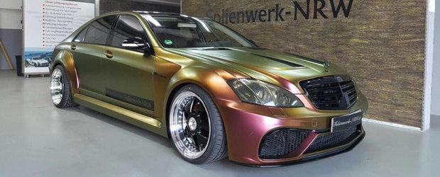 O sa ti se faca rau cand vei vedea pozele astea. Ce i s-a intamplat acestui Mercedes S-Class W221