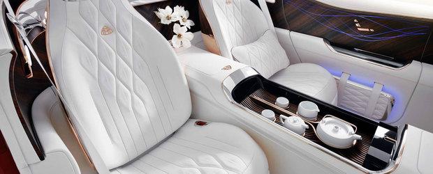 O strutocamila de lux. Noul concept electric Mercedes-Maybach a fost lansat oficial cu set complet de ceai