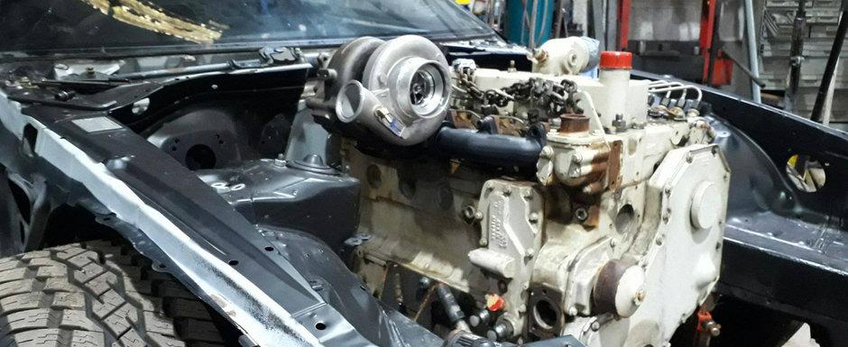 Oamenii astia nu-s intregi la cap. Au pus pe-o Supra un motor diesel de 5.9 litri