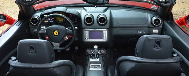 Obsesia pentru manuale loveste din nou: Un Ferrari California cu trei pedale s-a vandut pentru o mica avere
