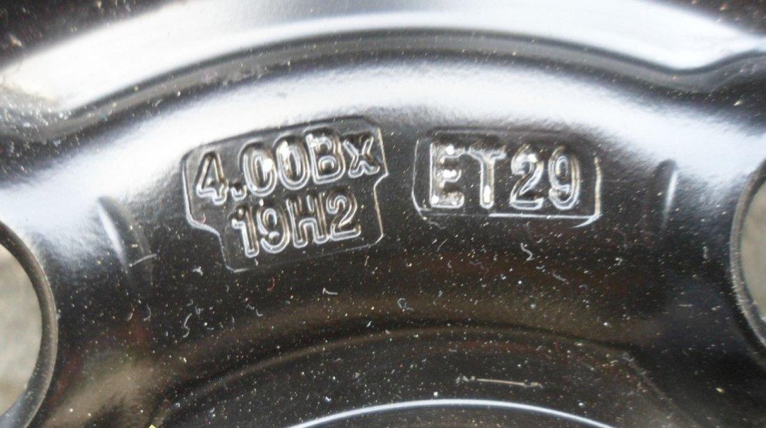 Ocazie o janta nou nouta de tabla de rezerva originala AUDI A4 B8 cu anvelopa nou nouta marimea 125 70 R19 la doar 200 EURO
