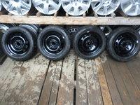 Ocazie set de 4 jante de tabla  Ford Fiesta 4x108  cu anvelope de iarna marimea 195 50 15 la do