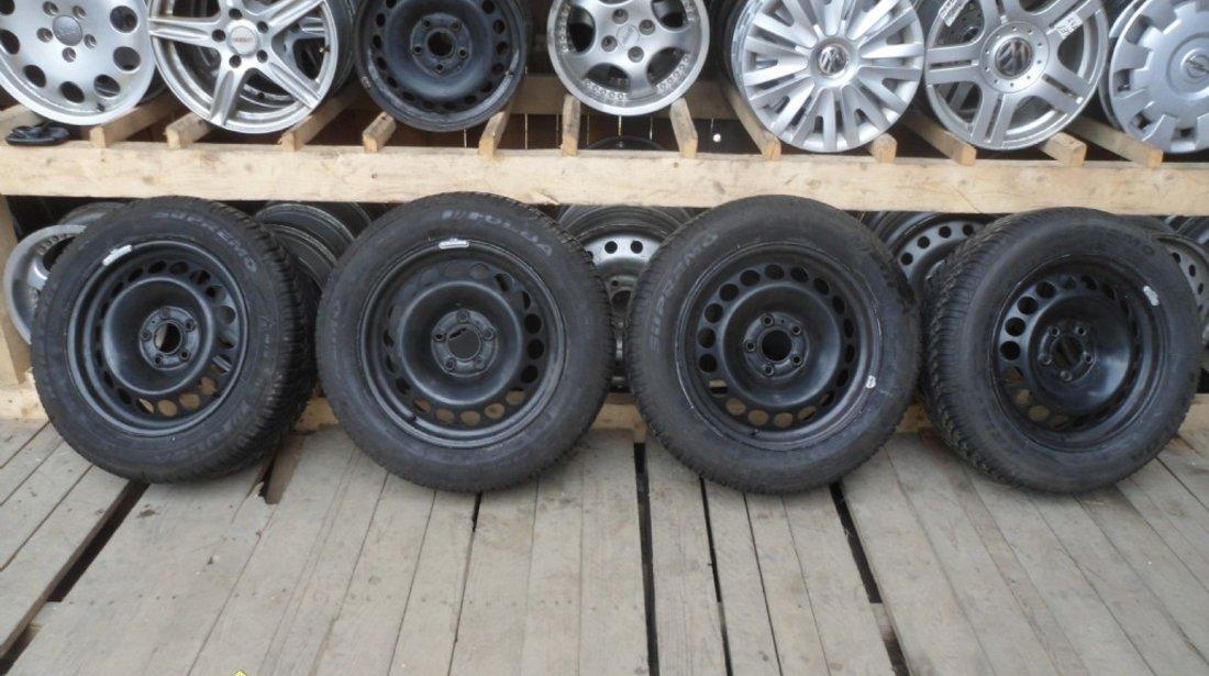 Ocazie set de 4 jante de tabla pe 16 originale Audi A4 B8 cu tot cu anvelope marimea 205 60 R16 la doar 1200 Lei