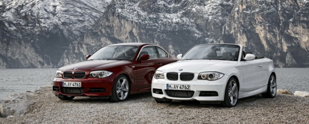 Oficial: Facelift pentru modelele BMW Seria 1 Coupe si Seria 1 Convertible
