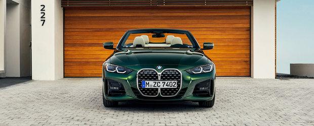 OFICIAL: NOUL BMW Seria 4 Convertible renunta la plafonul fix, dar pastreaza grila frontala masiva. GALERIE FOTO COMPLETA