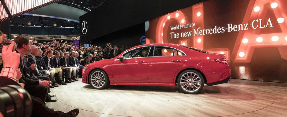 OFICIAL: Noul Mercedes CLA este un CLS in miniatura, cu design sexy si pret de vanzare mult mai mic