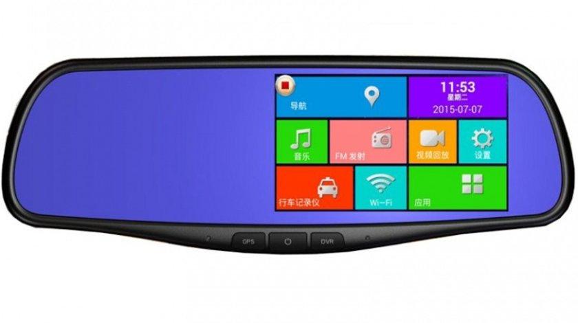 Oglinda auto cu DVR Full HD android gps internet si intrare de camera spate cu inlocuire oglinda originala