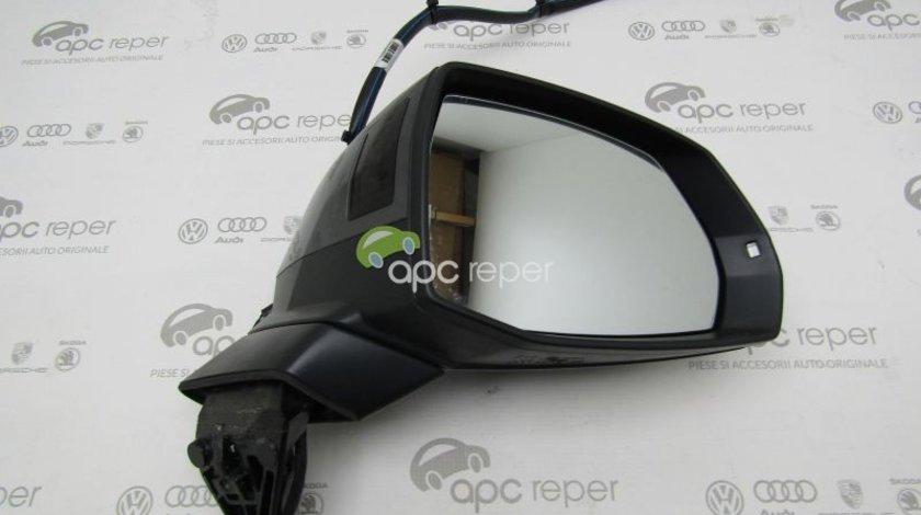 Oglinda dreapta - Audi Q7 4M - cu Side Assist