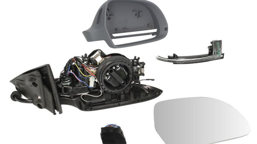 Oglinda dreapta electrica, asferic, incalzita, grunduita, pliabila electric AUDI A5 intre 2006-2011