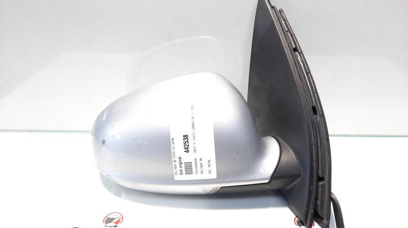 Oglinda dreapta fata cu semnalizare, Vw Golf 5 (1K1) [Fabr 2004-2008] (id:442538)