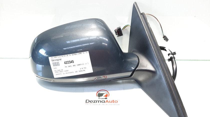 Oglinda electrica dreapta cu semnalizare, Audi A4 (8K2, B8) [Fabr 2008-2015] (id:422345)