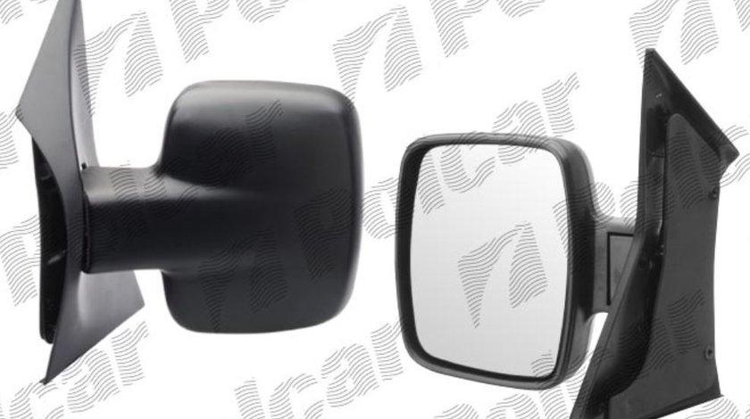 Oglinda exterioara Mercedes Vito 02.1996-01.2003 partea stanga View Max crom convex carcasa neagra reglare manuala fara incalzire Kft Auto