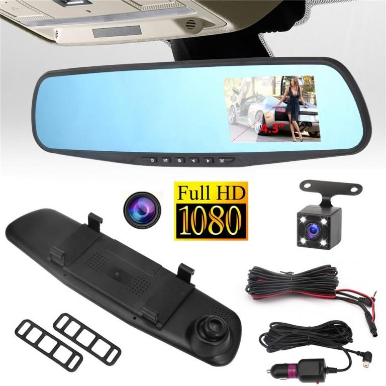 Oglinda retrovizoare camera video fata+spate