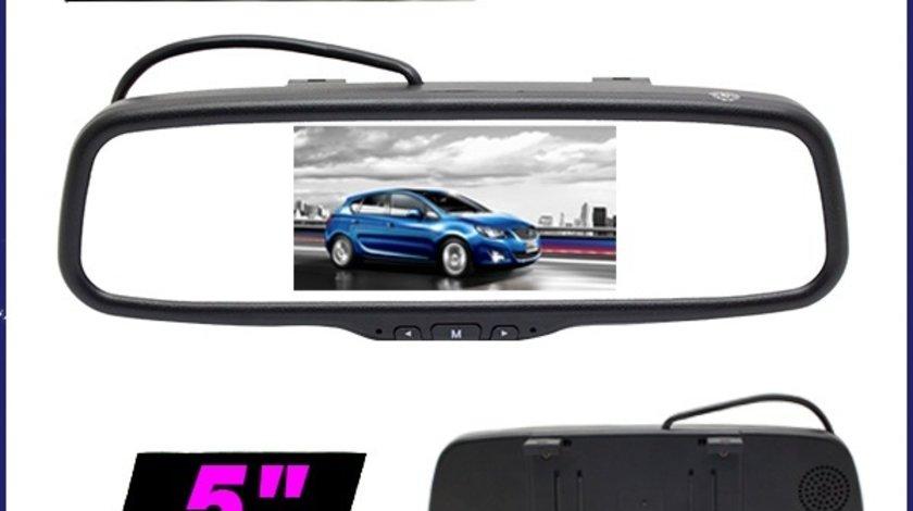 Oglinda Retrovizoare Monitor Tft Lcd 5'' 2 Intrari Video Camera Marsarier / Tv Tuner Digital