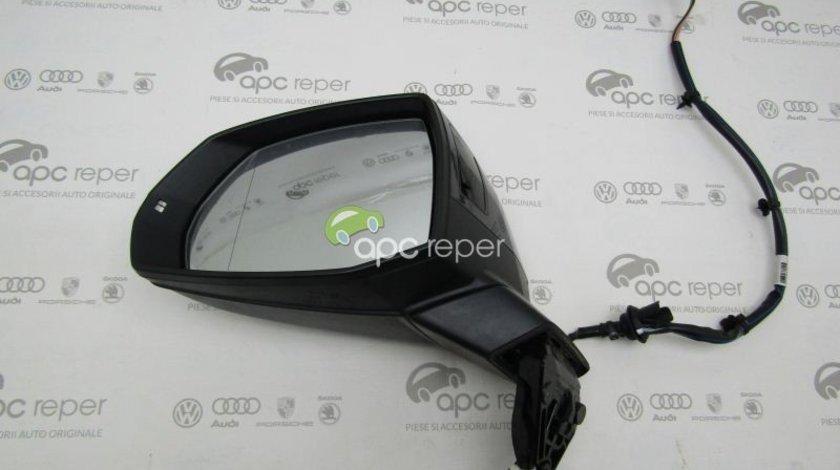 Oglinda stanga - Audi Q7 4M - cu Side Assist