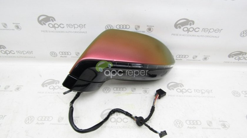 Oglinda stanga Originala Audi A7 4G cu Side Assist (14+2pini)