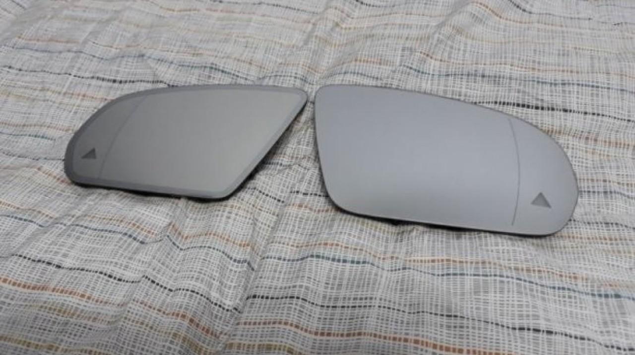 Oglinzi Mercedes GLC originale cu Side assist -avertizor pe sticla si heliomate