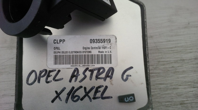 opel astra g 1.6 16v x16xel CLPP 09355919