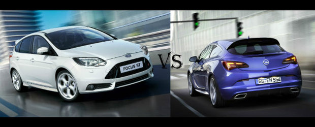 Opel Astra OPC versus Ford Focus ST