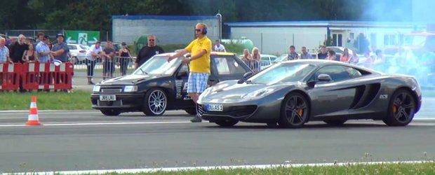 Opel Corsa vs. McLaren MP4-12C - cursa de drag