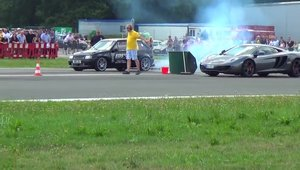 Opel Corsa vs. McLaren MP4-12C - cursa de drag