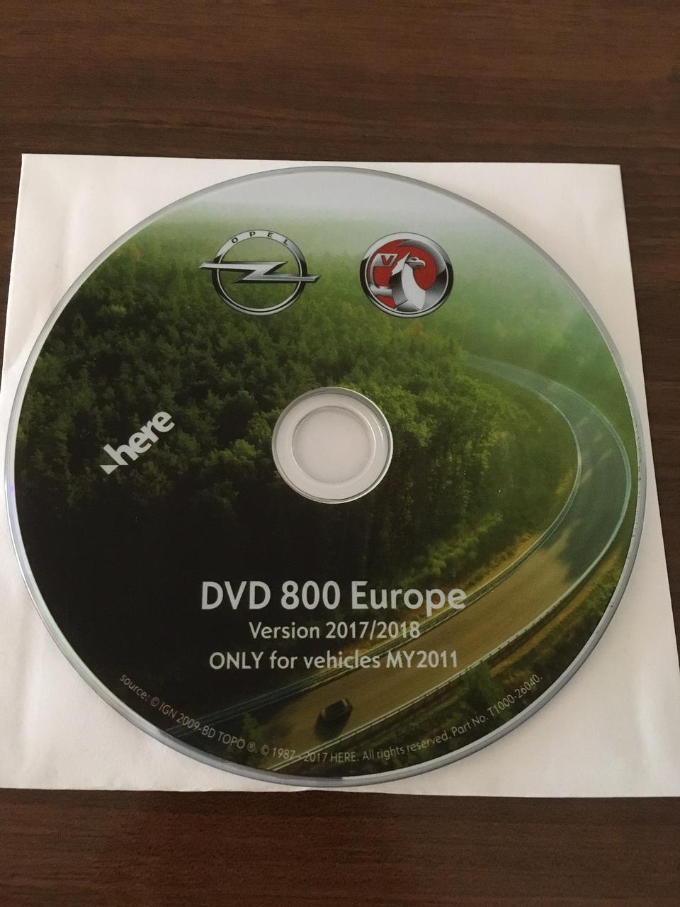 OPEL Harta navigatie CD500 DVD800 MY2011 CD DVD 2019 #8168529
