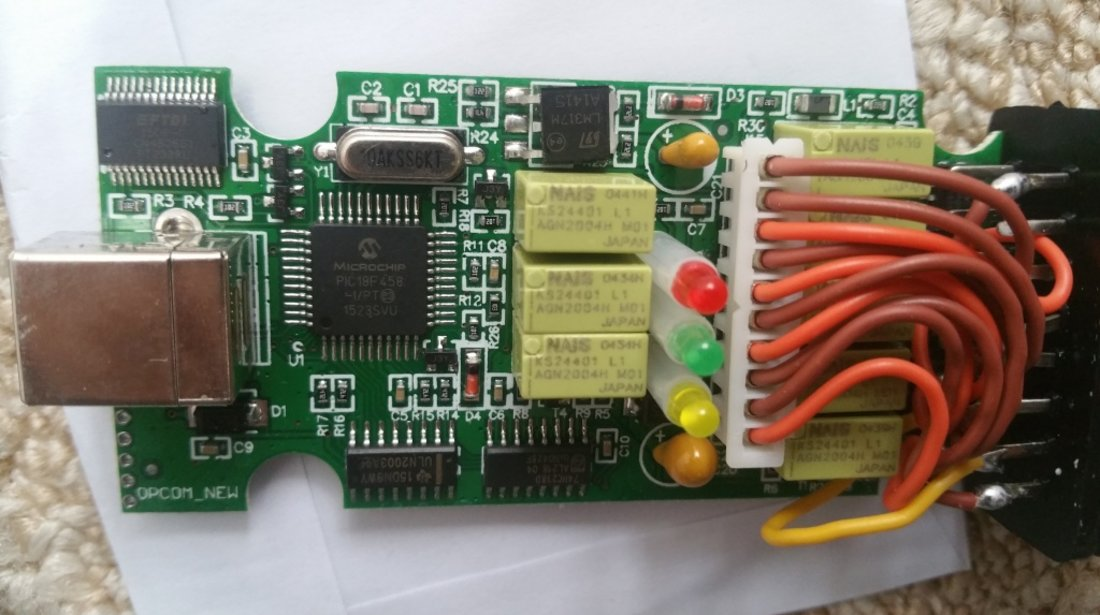 OPEL OP-COM OPCOM 2014, INSIGNIA ASTRA J - Chip PIC18F458