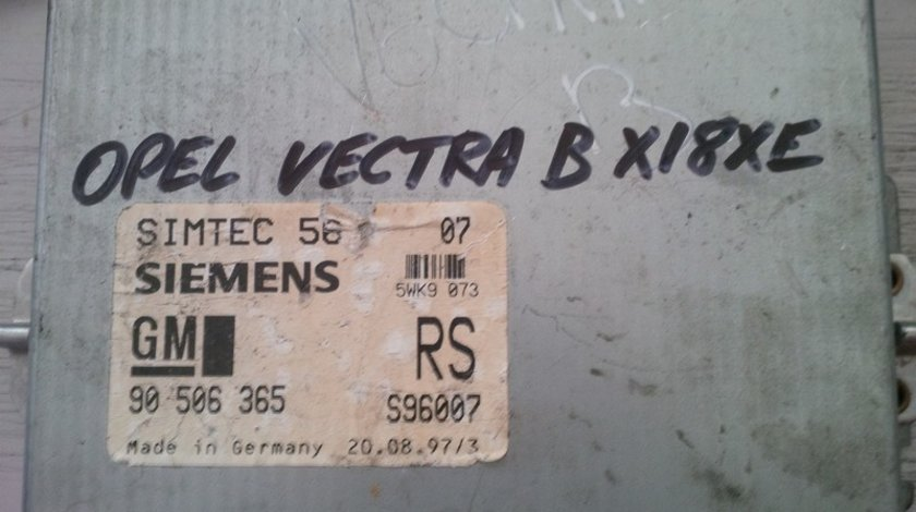 opel vectra b x18xe 90506365RS SIEMENS