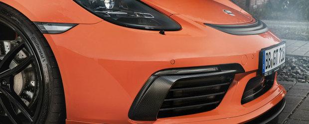 Oriunde te uiti vezi fibra de carbon. Cum arata Porsche-ul 718 dupa ce a primit tratamentul TechArt