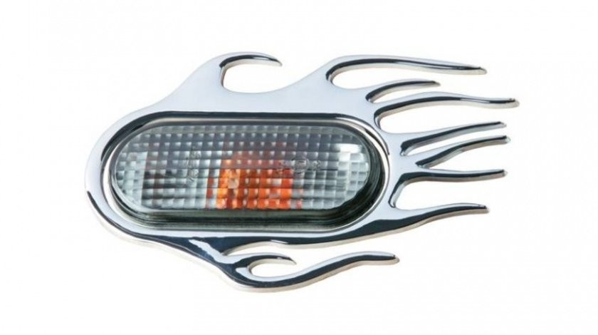 Ornament 3D Flaming crom 118X75mm, pentru seria VAG (Vw Audi Seat Skoda) Kft Auto