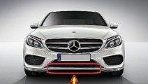 Ornament crom bara fata Mercedes C-Class W205 AMG ...