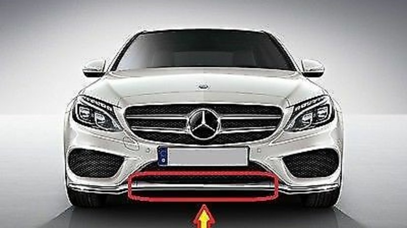 Ornament crom bara fata Mercedes C-Class W205 AMG (2014-2019) cod A2058851574