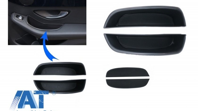 Ornament Depozitare Usi spate compatibile cu Mercedes C-Class W205 S205 Limo T-Modell (2014-2018) GLC X253 (2015-2018)