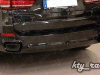 ORNAMENT TOBA BMW X5 F15 2014+ TIPS ESAPAMENT CHROM BLACK + ORNAMENT BARA
