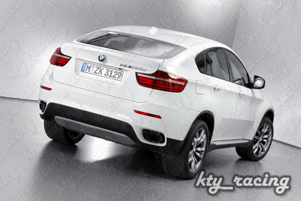ORNAMENT TOBA BMW X6 E71 2008-2014 V8 DESIGN TIPS SHADOW LINE CHROM BLACK