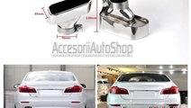 Ornament toba tips BMW Seria 5 F10 F11 2010+ Chrom...