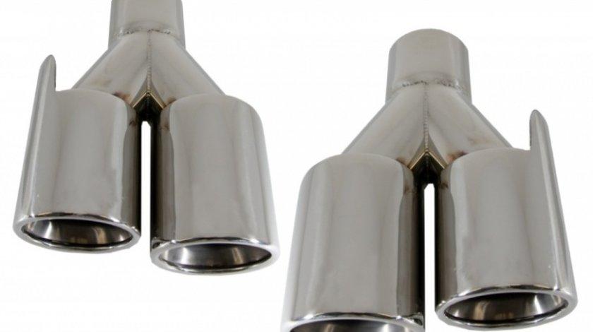 Ornamente Esapament Bmw Seria 3 E90 2004-2012 M-Power Design Set 2 Buc TY-C023C