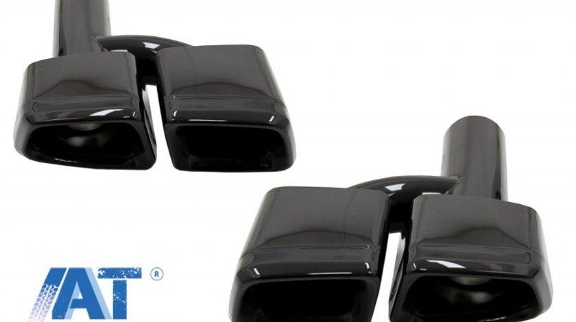 Ornamente Evacuare Toba Negre compatibil cu MERCEDES S-class E-class W221 W212 E63 S63 Design