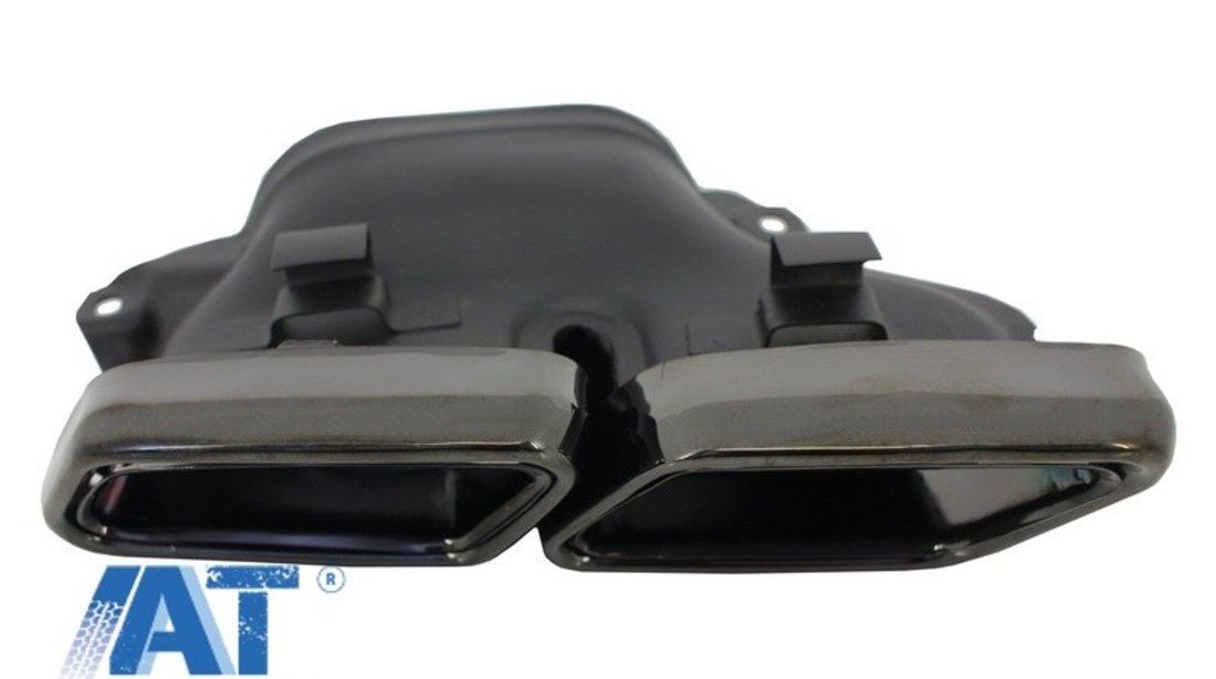 Ornamente tobe compatibil cu sistemul de evacuare Mercedes Benz S-Class W222 E-Class W212 S212 Facelift CLS W218 SL-Class R231 E63 S65 SL65 A-Design Negre