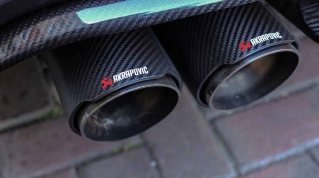 Ornamente tobe Tips evacuare Akrapovic duble BMW F10 F12 X5 X6 F30 F34